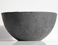 Black Concrete Bowls