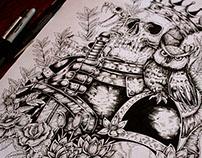 Skulls, tattoos and drawings