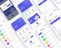 Lubna Laundry Services Mobile App UI Design