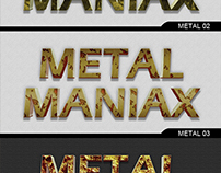 3D Metal / Iron Text Style for Photoshop