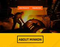 Minkon-International Bespoke Responsive Website