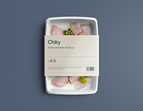 Disposable Food Container Package Mockup