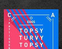 Topsy Turvy cake poster