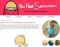 The Pink Samurai Blog Design