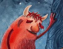 Watercolour Monster Illustrations