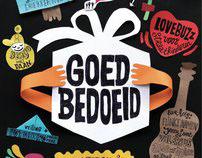 Affiche 'GOED BEDOELD' Benefiet feest Ubuntu theatre