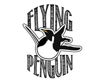 Flying Penguin Logo Design