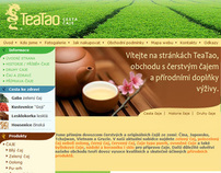 web design and logo TEA TAO