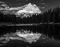 Black and white Dolomites 2
