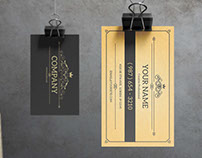York - Vintage Business Card Template