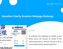 UI / UX Case Study Marathon Charity Donation Webpage