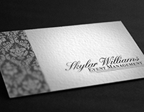 Skylar Williams, Event Management Buisness Card