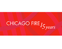 Chicago Fire 15th Anniversary Event Logo + Merchandise