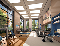 Fitness Room for Queen Victoria Project in Curitiba, BR