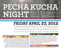 Pecha Kucha Art Night Event Poster and Attachement