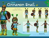 Character Design: Snail Girl