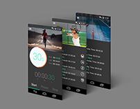 Stopwatch app concept