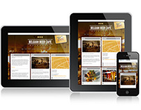 Belgian Beer Cafe Website - Responsive Design