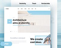 Selene : Free Architecture PSD Template