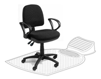 Clear Office Chair Mat with Integrated Footrest