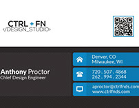 Ctrl + Fn Design Studio Business Card