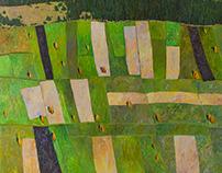 """Fields""  150x150 sm. oil on canvas. 2016"