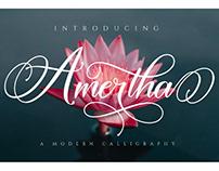 FREE | Amertha Elegant Modern Calligraphy Script