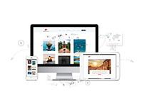 Travel Blog Web Design