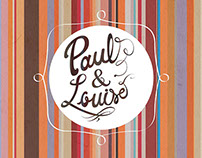 Paul & Louise - graphic identity