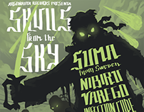 Skulls from the Sky / GigPoster
