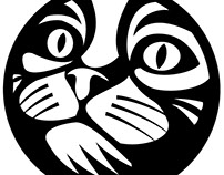 Cat vector image.