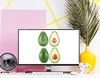 Avocado İllustration