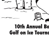 """Golf on Ice"" T-shirt Design"