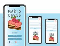 Mari's cakes app