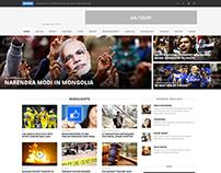 Magazine cum Online News Web Design
