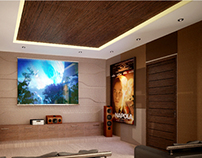 3D conceptual render of Entertainment room