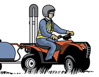 Quad Bike illustrations
