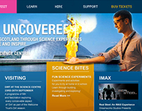 Glasgow Science Centre - website concept