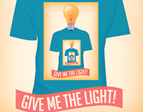 "Poster & logo for band ""Give Me The Light"""