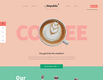 Free coffee shop cafe website design