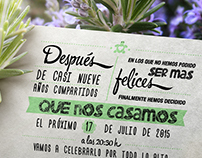 Raquel + Fer: Wedding Branding