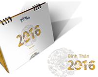 Gongvo's Calendar 2016 - Bính Thân (Year of the Monkey)