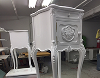 Lacquered White Antique