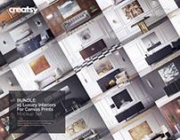 Luxury Interiors for Canvas Prints Mockup Bundle