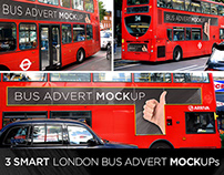 3 Smart London Bus PSD Mock-Ups