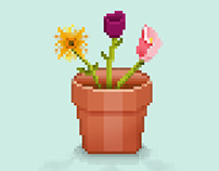 Mother's Day Pixel Art