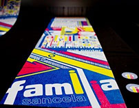 Postales Tipografícas marca Familia sancela