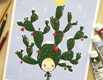 Christmas project - Gouache painting