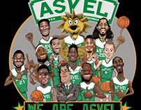 Basketball illustration - VISUEL ASVEL Basket