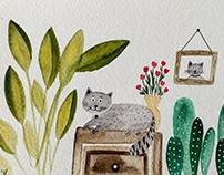 Cats love plants